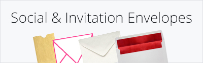 Social & Invitation Envelopes