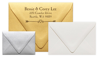 Contour Flap Wedding Envelopes