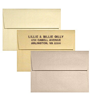 Metallic Wedding Envelopes