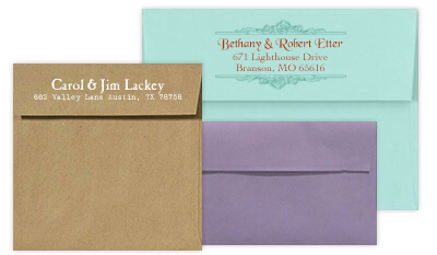 Square Flap Wedding Envelopes
