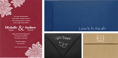 Printed Wedding Invitations and Envelopes