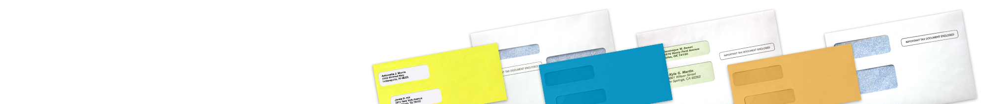 W2 Tax Form Envelopes