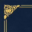 Nautical Blue Linen - Gold Foil Floral Border