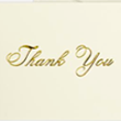 100lb. Natural - Gold Thank You Text