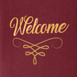 Burgundy Linen - Gold Foil Flourish