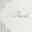 100lb. White - Silver Floral Thank You