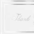 100lb. White - Silver Foil Embossed Thank You