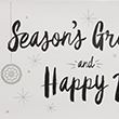 Seasons Greetings & Happy New Year on White